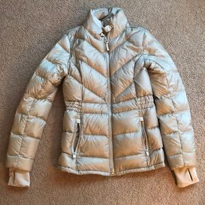 Small Athleta Cream Down Jacket
